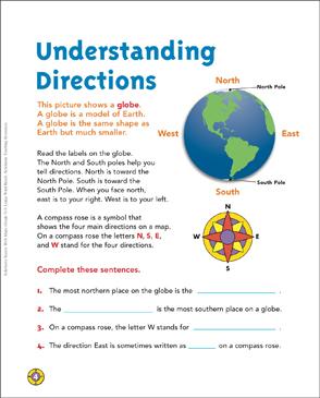 understanding directions map skills