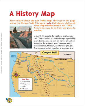 image relating to Oregon Trail Map Printable referred to as A Historical past Map: Map Competencies Printable Maps and Techniques Sheets