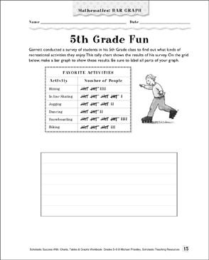 5th grade fun math bar graph printable skills sheets 5th grade fun math bar graph ccuart Images