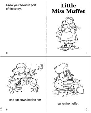 Little Miss Muffet Printable Mini Books - Printable-picture-books