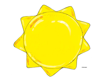 Line Art Of Sun : Yellow sun printable clip art and images