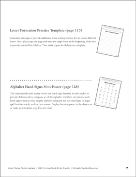letter formation practice template and mini poster