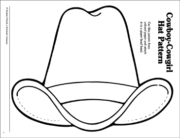 Comprehensive image with regard to cowboy hat printable