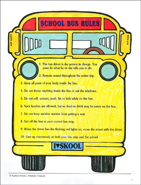Intrepid image within printable school bus rules