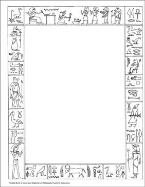 photograph regarding Ancient Egypt Printable Worksheets identify Historical Egypt: Stationery (With or With no Strains