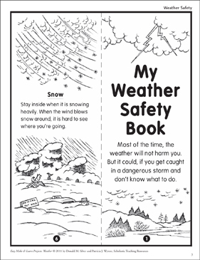 Weather Safety Make Amp Learn Project Printable Mini Books