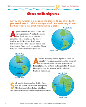 image about Printable Globe named Globes and Hemispheres: Map Abilities Printable Maps and