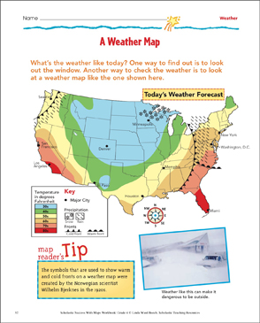 Modest image throughout weather map worksheets printable
