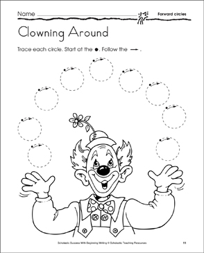 Clowning Around: Learning to Draw Circles | Printable Skills Sheets