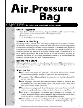 Air-Pressure Bag: Sandwich Bag Science Activity | Printable Lesson ...