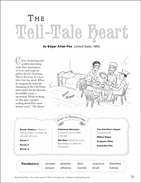 The Tell-Tale Heart: Read-Aloud Play | Printable Texts and Skills Sheets