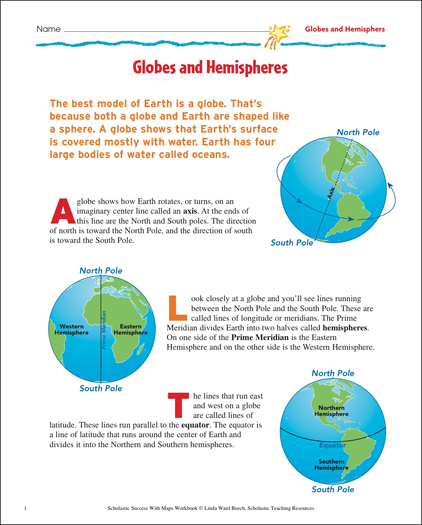 Globes and hemispheres map skills printable maps and skills sheets globes and hemispheres map skills gumiabroncs Image collections