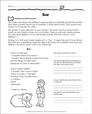 photo about Poems for Two Voices Printable called Undertake: Fluency-Planning Coach Printable Capabilities Sheets