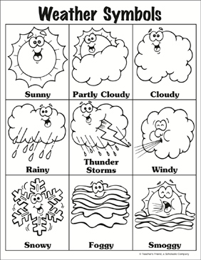 photo relating to Printable Weather referred to as Climate Symbols Printable Charts, Symptoms and Expertise Sheets