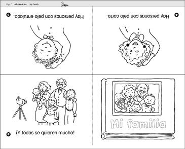 Mi Familia My Family Spanish Emergent Reader Printable Mini Books