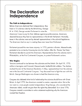 photograph regarding Printable Declaration of Independence Text referred to as The Declaration of Flexibility: Phrases Organizer