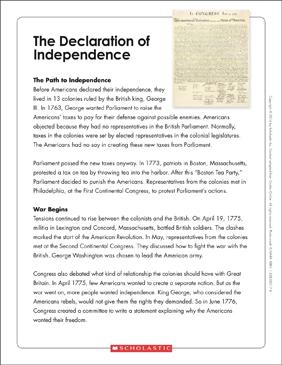 image regarding Printable Declaration of Independence identify The Declaration of Freedom: Words Organizer