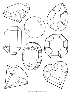 jewel coloring pages Jewel and Treasure Coloring Page | Printable Coloring Pages jewel coloring pages