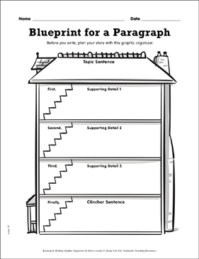 Writing graphic organizer blueprint for a paragraph printable writing graphic organizer blueprint for a paragraph malvernweather Gallery