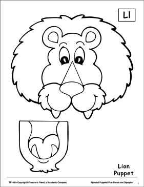 The Letter L Lion Puppet