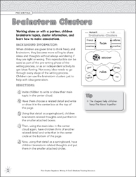Brainstorm clusters pre writing graphic organizer printable brainstorm clusters pre writing graphic organizer ccuart Images