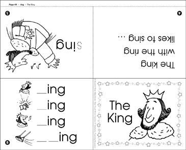 The king ing word family printable mini books the king ing word family ibookread Read Online