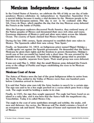 Mexican Independence Day Printable Texts
