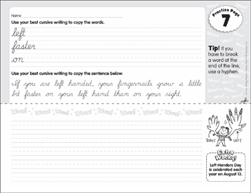 Cursive practice 7 wacky facts printable skills sheets cursive practice 7 wacky facts ibookread Read Online