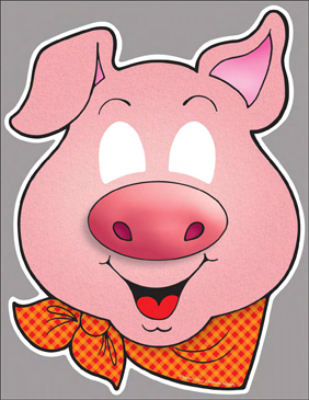 It's just a photo of Adorable Printable Pig Masks