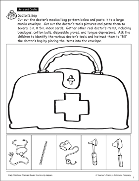 Doctor S Bag And Tools Craft Printable Arts Crafts And