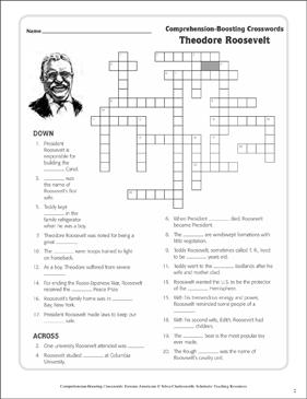 theodore roosevelt text crossword puzzle