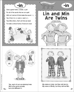 Lin and min are twins in word family tale printable mini books lin and min are twins in word family tale ibookread ePUb
