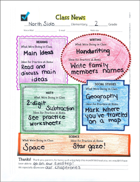 Classroom Newsletter Template | Printable Forms and Record Sheets