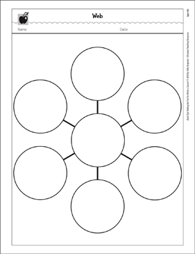 Web Graphic Organizer Printable Graphic Organizers Classroom