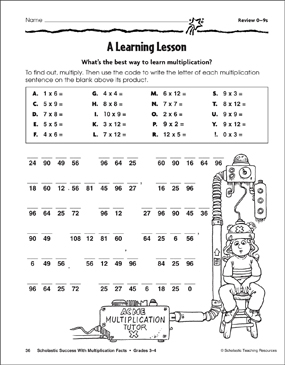 picture relating to Crack the Code Worksheets Printable identified as A Discovering Lesson: Prepare Webpage (Multiplication Sentences