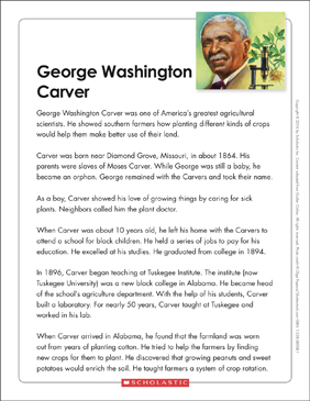 image relating to George Washington Printable Worksheets referred to as George Washington Carver: Phrases Organizer Printable