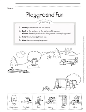 Playground Fun All About Me Printable Lesson Plans