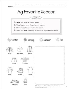 Essay on my favourite season