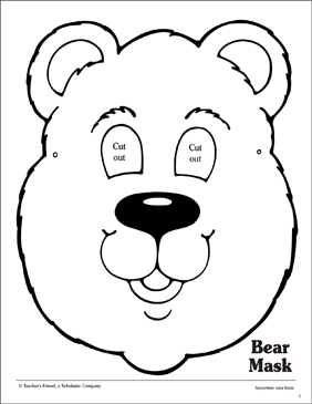 Remarkable image pertaining to printable bear mask
