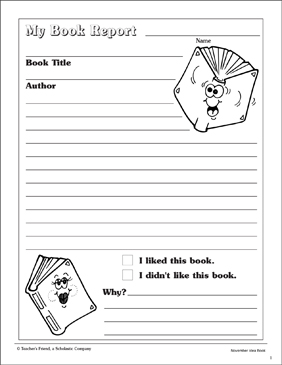 my book report template printable skills sheets