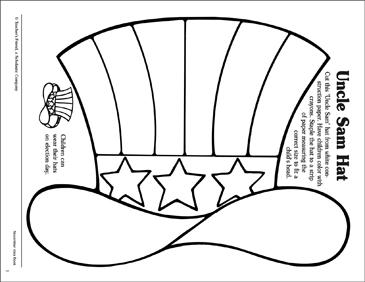 uncle sam hat pattern printable arts crafts and skills sheets