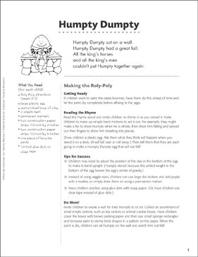 Humpty Dumpty Art Activity