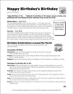 Birthday holiday ideas