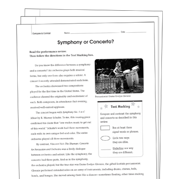 Compare and Contrast Grade 5 Collection | Printable Leveled Learning ...